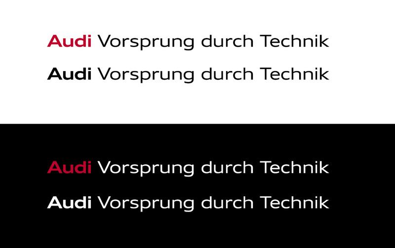Audi奥迪VI设计_字体设计