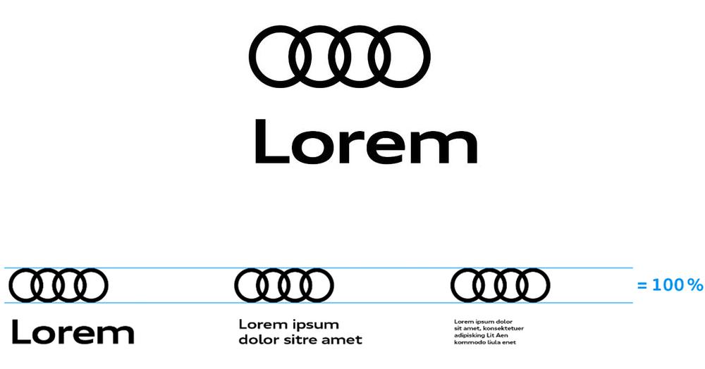 Audi奥迪VI设计_logo组合规范