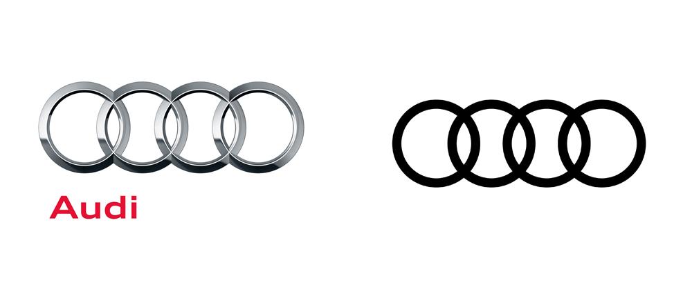 Audi奥迪VI设计_新旧logo